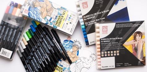 Zestawy Kurecolor Fine & Brush for Manga