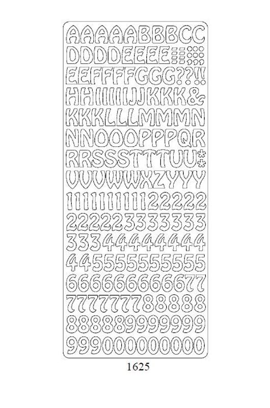 1625 Cyfry i Litery