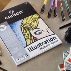 Blok do Mangi i Komiksu Canson Illustration 250 gsm