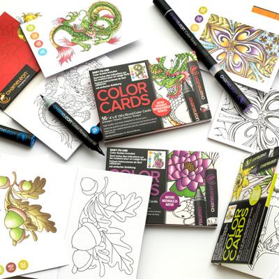 Kolorowanka Dla Dorosłych Chameleon Color Cards
