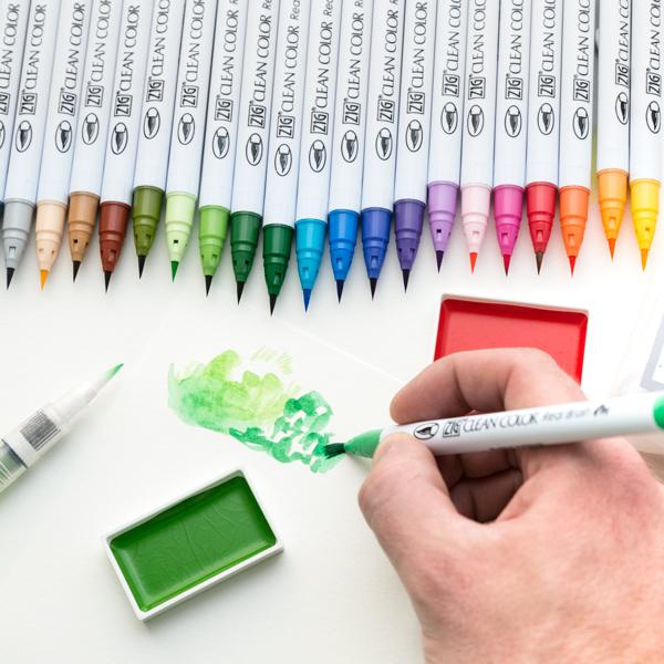 Pisaki Brush Pen Kuretake Clean Color Real Brush