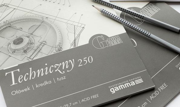 Blok Gamma Techniczny 250 gsm