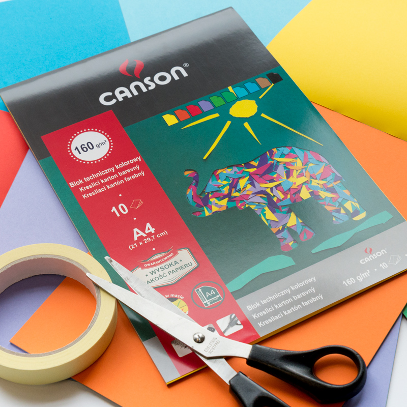 Blok Canson Techniczny Kolorowy 160 gsm