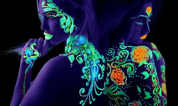 Farby do Twarzy Paint Glow Glow in The Dark Body Paint 12 ml
