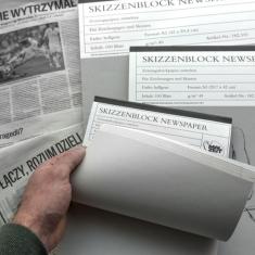 Papier Gazetowy Blok Mal Zeit Skizzenblock Newspaper 49 gsm