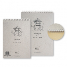 Blok do Rysowania SMLT Sketch Pad Natural Wirebound 100 gsm
