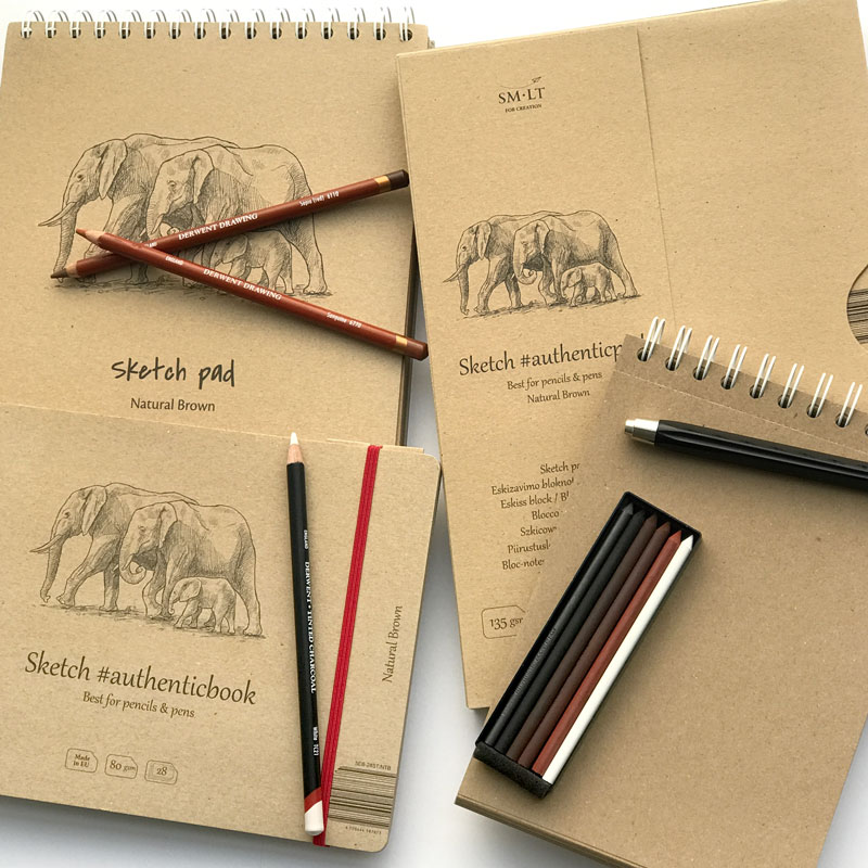 Blok do Rysowania SMLT Sketch Pad Natural Brown 135 gsm