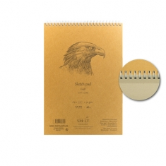 Blok do Rysowania SMLT Kraft Recycled Wirebound 90 gsm