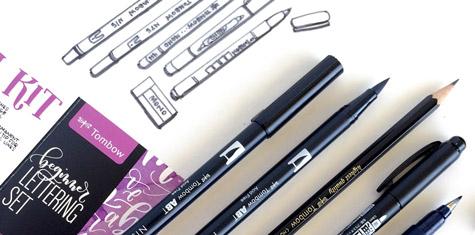 Pisaki do Kaligrafii Tombow Dual Brush Pen Beginners Lettering