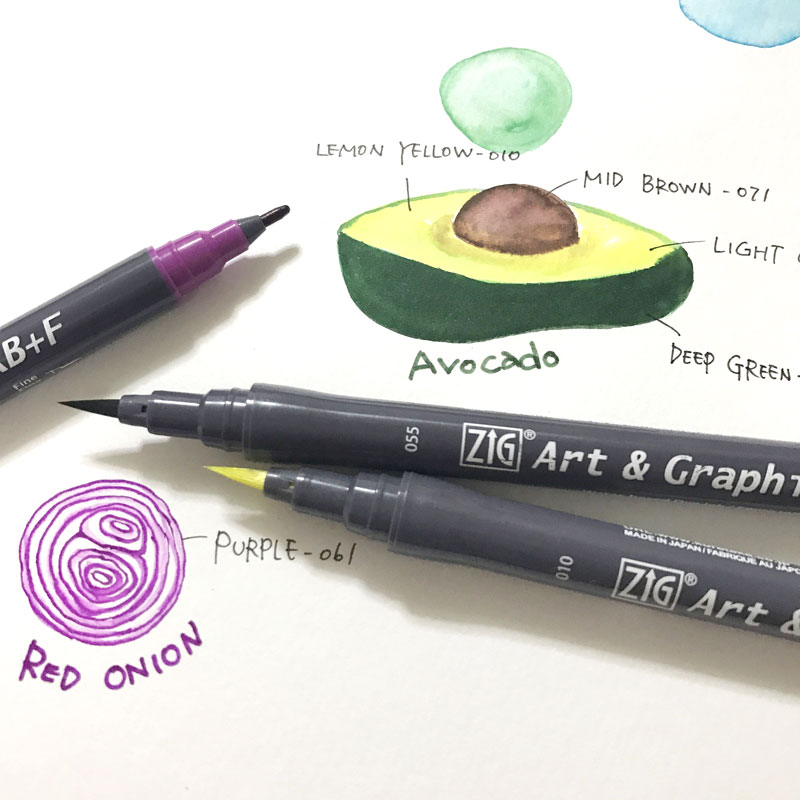 Brush Pen Kuretake Art & Graphic Twin RB+F