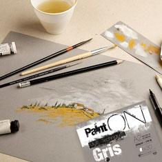 Blok Clairefontaine Paint On Multi Techniques Gris 250 gsm