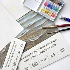 Blok do Akwareli SMLT Professional Quality Watercolor Cotton Paper 300 gsm