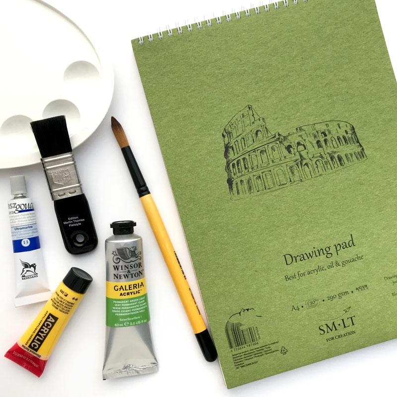 Blok do Malowania SMLT Acrylic Oil Guache 290 gsm