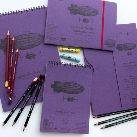 Papier do Pasteli SMLT Ingres Sketch Pad 130 gsm