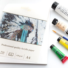 Blok do Malowania SMLT Professional Quality Acrylic Paper 420 gsm