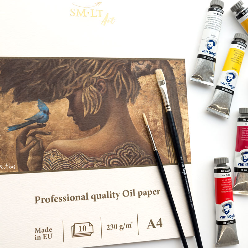 Papier do Farb Olejnych SMLT Professional Quality Oil Paper 230 gsm