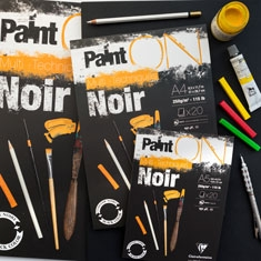 Blok do Malowania Clairefontaine Paint On Noir 250 gsm
