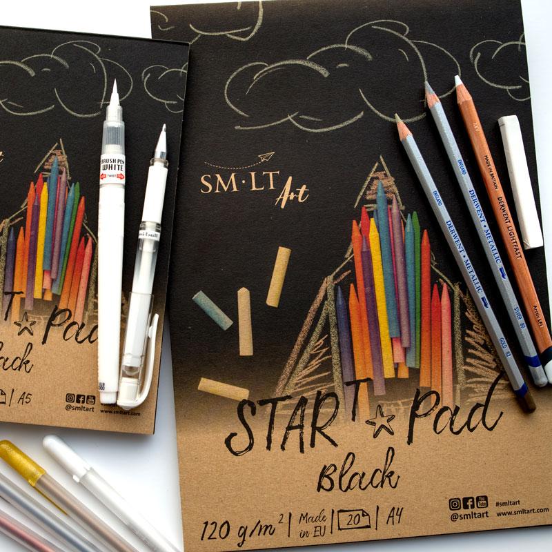 Czarny Papier SMLT Start Pad Black 120 gsm