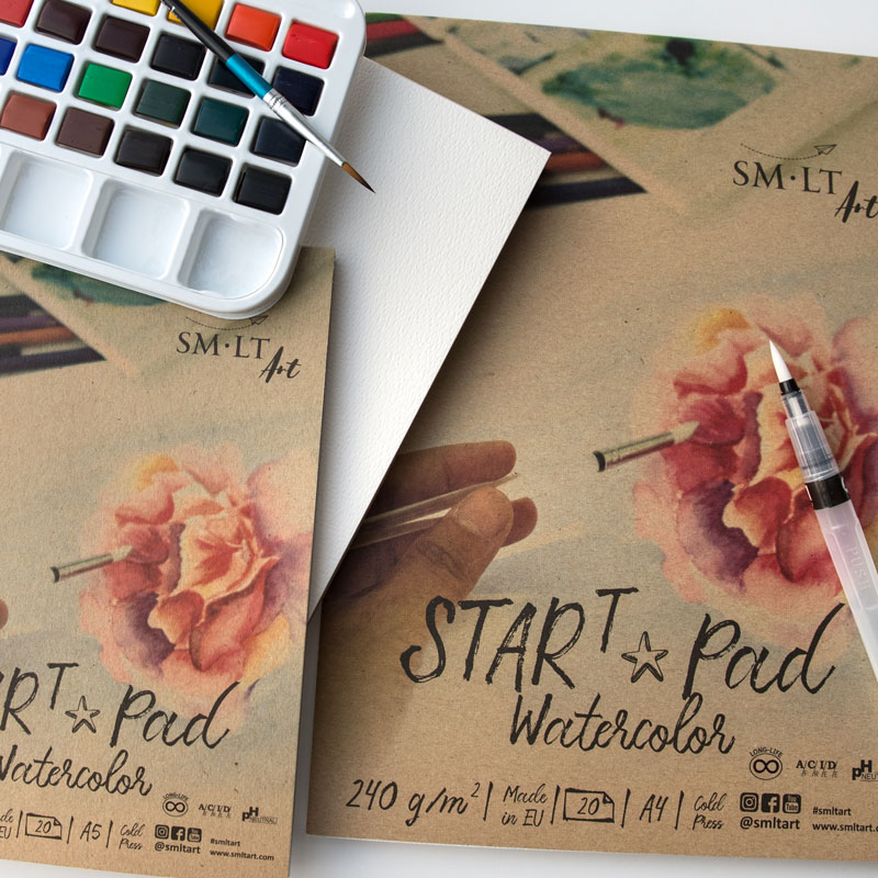 Papier do Akwareli SMLT Start Pad Watercolor 240 gsm