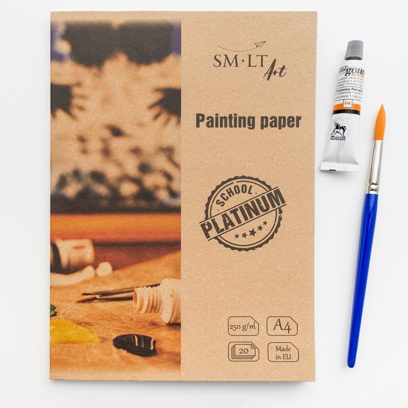 Papier do Malowania w Teczce SMLT Art School Platinium Painting Paper 250 gsm
