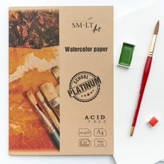 Teczka z Papierem Akwarelowym SMLT Art School Platinium Watercolor Paper 220 gsm
