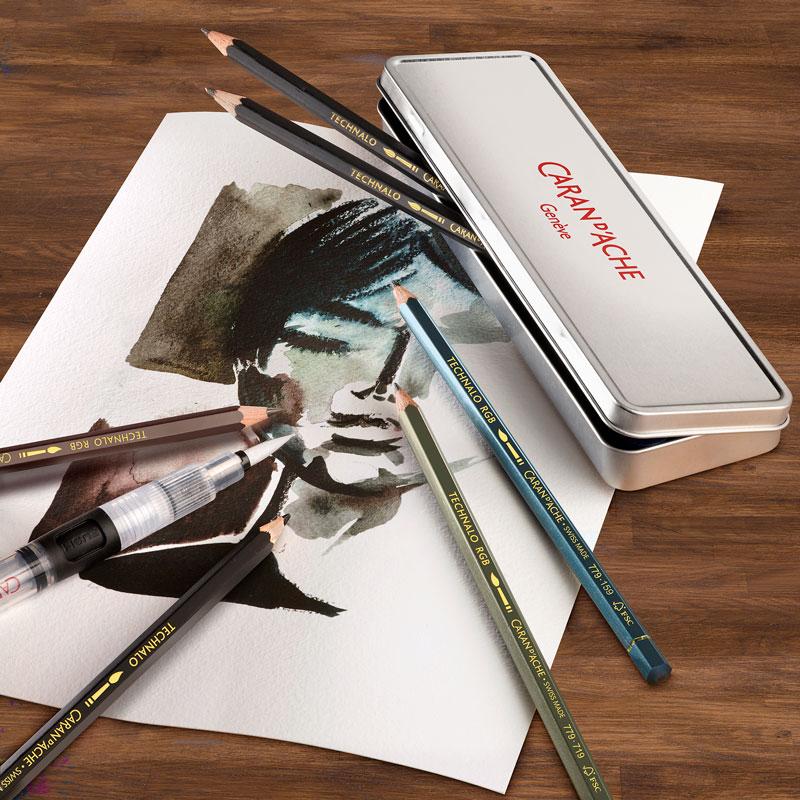 Ołówki Akwarelowe Caran d`Ache Technalo