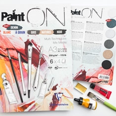 Blok Clairefontaine Paint On Assorted
