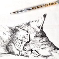 Długopis Żelowy do Tkanin Pentel Gel Roller For Fabric BN15
