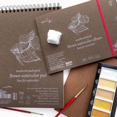 Blok do Akwareli SMLT Art Brown Watercolour 280 gsm