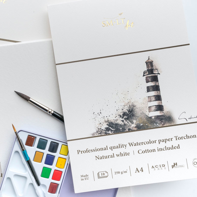 Blok do Akwareli SMLT Art Professional Quality Watercolor Paper Torchon 250 gsm