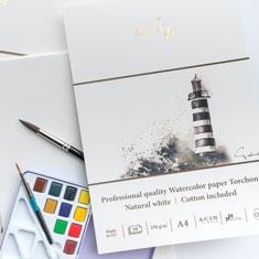 Blok do Akwareli SMLT Art Professional Quality Watercolor Paper Torchon 250 gsm