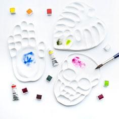 Paleta Porcelanowa Do Akwareli Ręcznie Robiona