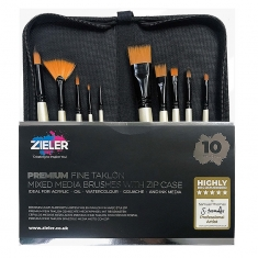 Pędzle Zieler Premium Brush 10 Szt