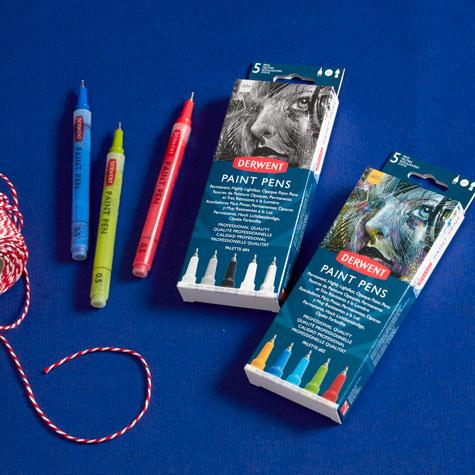 Pisaki Akrylowe Derwent Paint Pen Zestawy