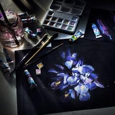 Blok do Akwareli Talens Van Gogh Black Water Colour Paper 360 gsm