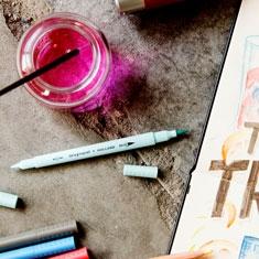 Pisaki Bruynzell Fineliners Brush Pens