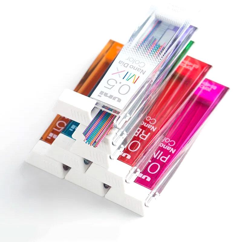 Kolorowe Wkłady do Ołówków Automatycznych Uni Nano Dia Color