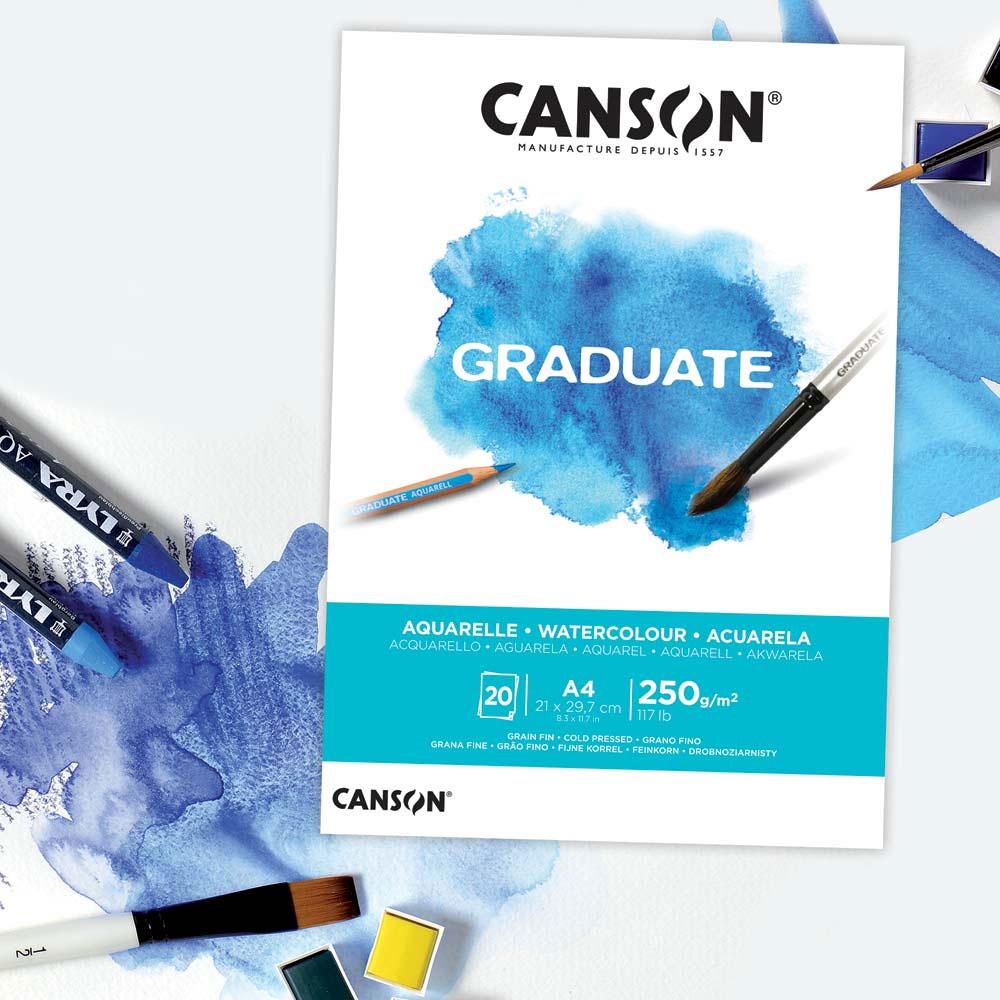 Blok do Akwareli Canson Graduate Watercolour 250 gsm