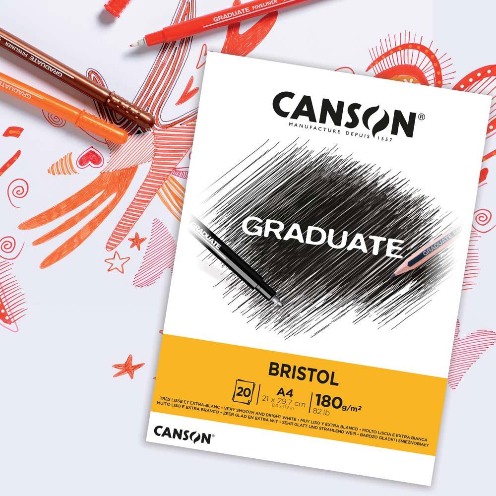 Blok Canson Graduate Bristol 180 gsm
