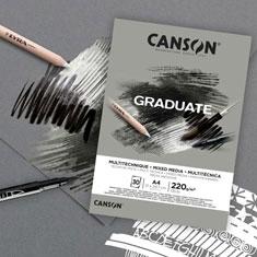 Blok Canson Graduate Mixed Media Grey 220 gsm