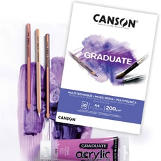 Blok Canson Graduate Mixed Media White 200 gsm