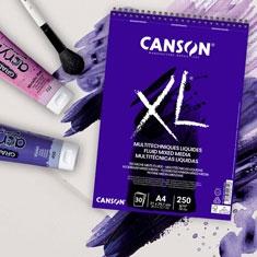Blok Canson XL Fluid Mixed Media 250 gsm