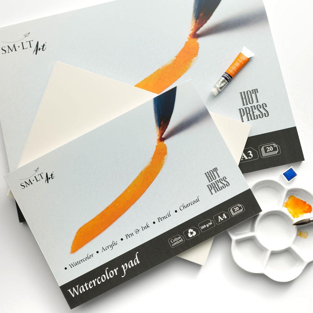Blok do Akwareli SMLT Art Watercolor Pad Hot Press 260 gsm