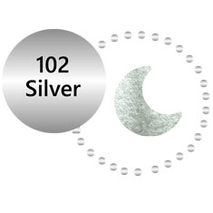 102 Metallic Silver