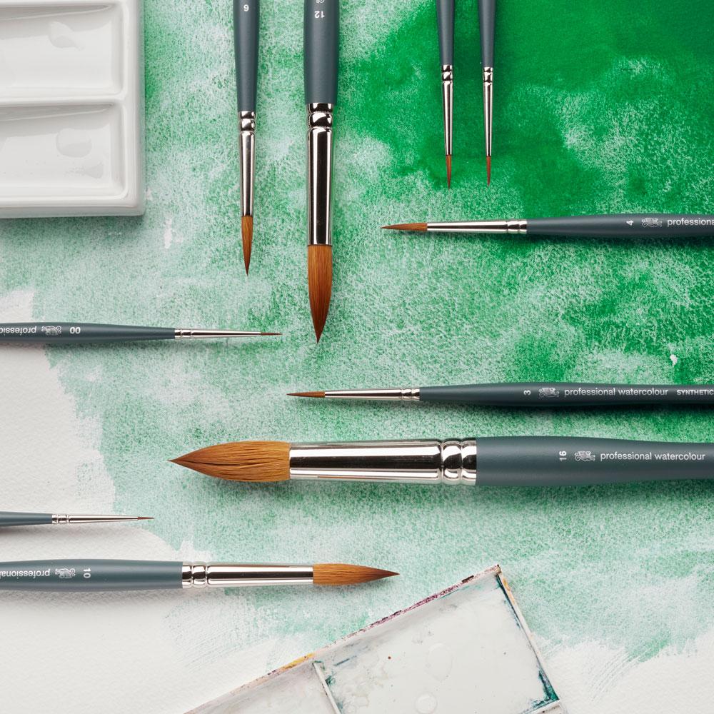 Pędzel do Akwareli Winsor & Newton Professional Watercolour Synthetic Sable Round