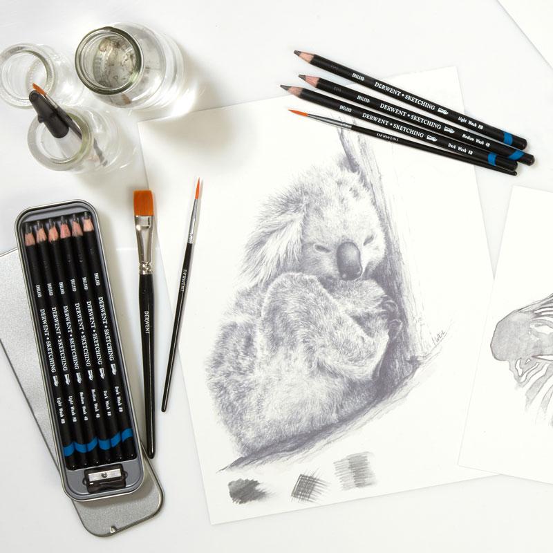 Ołówki Derwent Sketching Watersoluble
