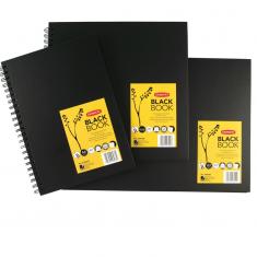 Szkicowniki Derwent Black Book 200 gsm