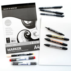 Blok do Markerów Daler-Rowney Simply Marker Pad 70 gsm