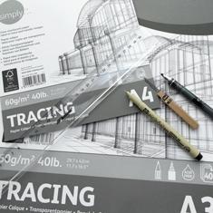 Blok Kalki Daler-Rowney Simply Tracing Pad 60 gsm