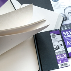 Daler-Rowney Simply Hardback Sketchbook Soft White 100 gsm